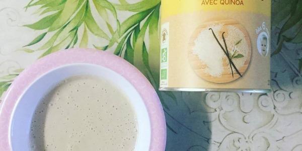 Meniu Quinoa, vanilie și pară coaptă BabyBio